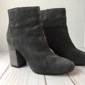 Kenneth Cole suede & crystal boots Size 7 1/2